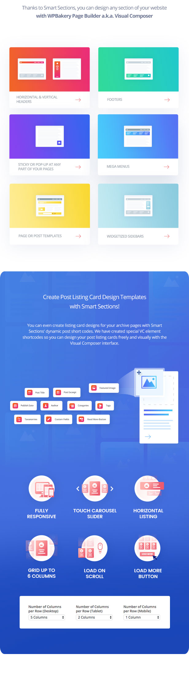 Smart Sections - WPBakery Page Builder (formerly Visual Composer) Addon