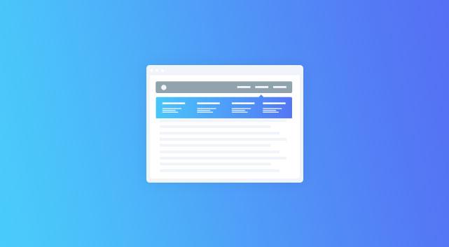 mega menu visual composer